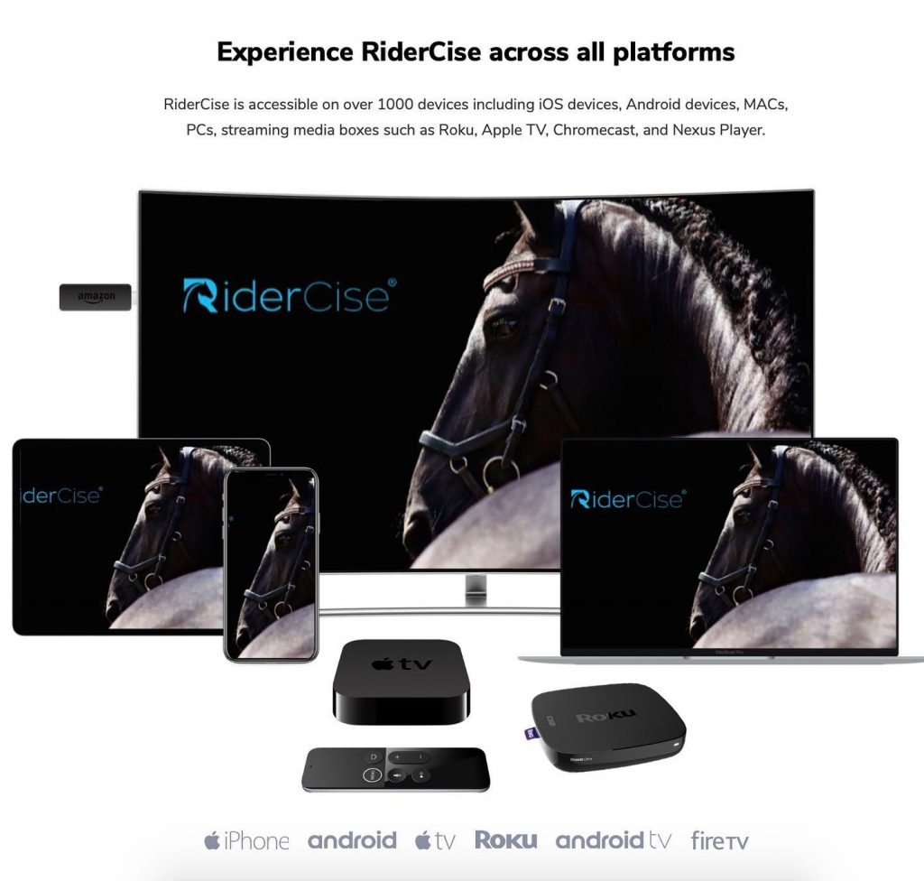 RiderCise On Demand available on any device with internet connection